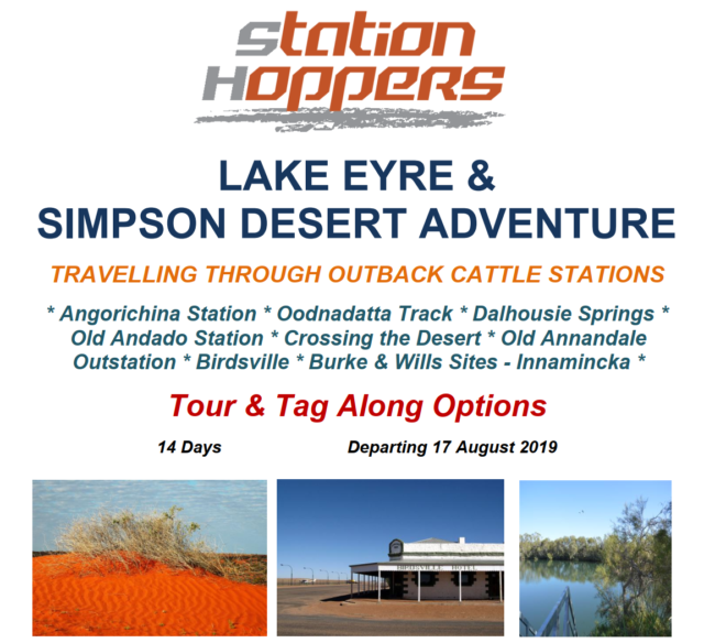 Station Hoppers Lake Eyre & Simpson Desert Adventure – ON SALE NOW!